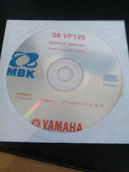 Yamaha Werkstatthandbücher auf CD (original) - 125 ccm