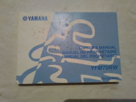 Yamaha YFM 70 RW – originale Bedienungsanleitung