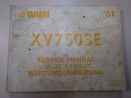 Yamaha XV 750 SE - originale Wartungsanleitung