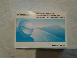 Honda CBR 600F – originales Fahrer-Handbuch
