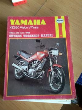 Yamaha XZ 550 Vision V-Twin- originales Werkstatt-Handbuch
