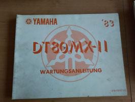 Yamaha DT 80MX-II ('83)  - Wartungsanleitung
