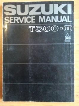 Suzuki T 500 - II - originales Reperatur- Handbuch