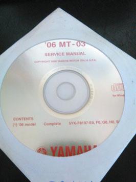 Yamaha Werkstatthandbücher auf CD (original) - '06 + '07 MT-03