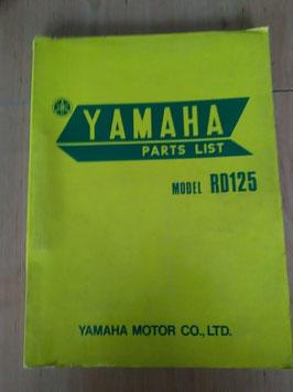 Yamaha RD 125 - Parts-List