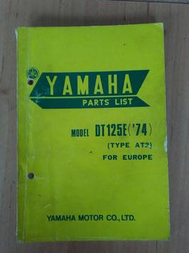 Yamaha DT 125E ('74) Type: AT2 - Parts-List