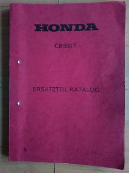 Honda CB 550 F - Ersatzteile-Katalog