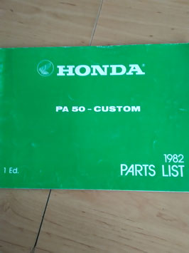 Honda PA 50 Custom - Parts List