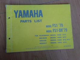 Yamaha FS1 ('79) Type: 3F2 - Parts-List