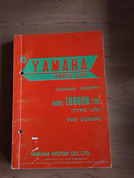 Yamaha LB80 II A  (Bj 76)  Type 1F3- Chappy- Parts-List