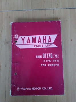 Yamaha DT 175 ('75) Type: CT1 - Parts-List
