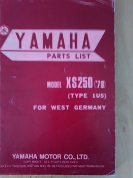 Yamaha XS 250 ('78) Type 1U5 - Parts-List