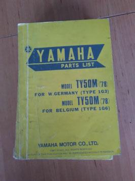 Yamaha TY 50M ('78) Type: 1G3 - Parts-List