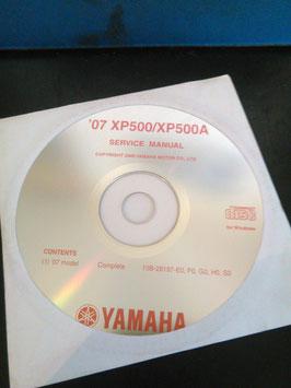 Yamaha Werkstatthandbücher auf CD (original) - 500 ccm