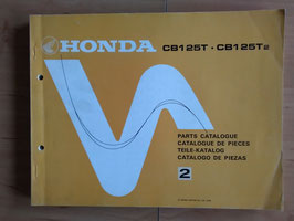 Honda CB 125 T / T2  - Parts- List