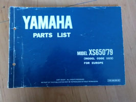Yamaha XS 650 ('79) - Type: 1U3 - Parts-List