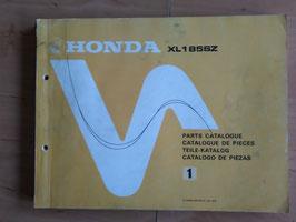 Honda XL 185 SZ - Honda Parts- List - Ersatzteile-Katalog