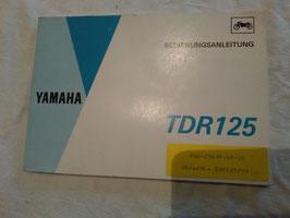 Yamaha TDR 125 - originale Bedienungsanleitung