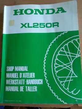Honda XL 250 R -  Werkstatt-Handbuch