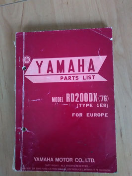 Yamaha RD 200 DX ('76) Type: 1E8 - Parts-List