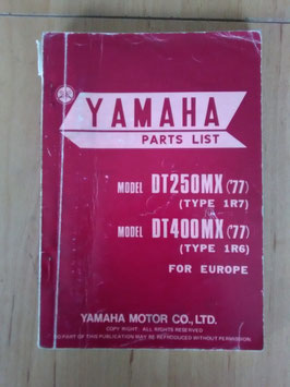 Yamaha DT 250 ('77) Type: 1R7/ DT 400 ('77) Type: 1R6 - Parts-List