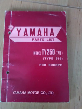 Yamaha TY 250 ('75) Type: 516 - Parts-List