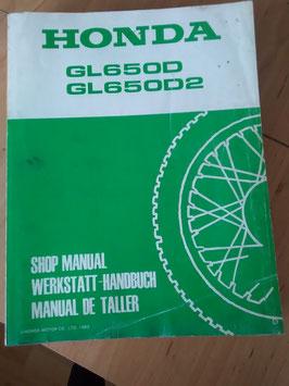 Honda GL 650 D/ D2  RC 10 -  Werkstatt - Handbuch