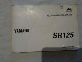 Yamaha SR 125 - originale Bedienungsanleitung