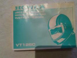 Honda VT 125 C – originales Fahrer-Handbuch