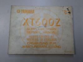 Yamaha XT 600 Z - originale ergänzung zur Wartungsanleitung