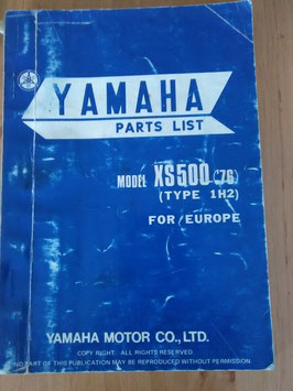 Yamaha XS 500 ('76) Type 1H2 - Parts-List