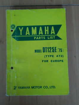 Yamaha DT 125E ('75) Type: AT2  - Parts-List