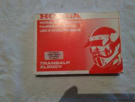 Honda XL 600 - Transalp – originales Fahrer-Handbuch