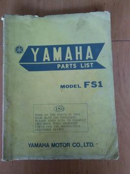 Yamaha FS 1 - Parts-List