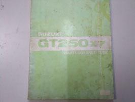 Suzuki GT 250 x7 - Wartungsanleitung