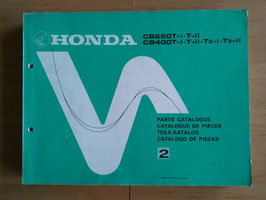 Honda CB 250 I - T - II  CB 400 T - I- TZ-I/ TZ - II - Parts- List - Ersatzteile-Katalog