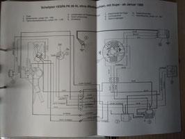 Vespa Schaltpläne - in verschiedenen Ausführungen