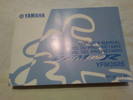 Yamaha YFM 350 R/S – originale Bedienungsanleitung