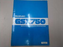 Suzuki GSX 750 - Service Handbuch- Ergänzung im Paket