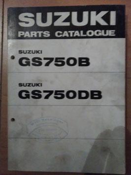 Suzuki GS 750 B - Teile Katalog