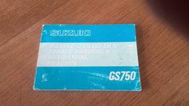 Suzuki GS 750 - originales Fahrerhandbuch