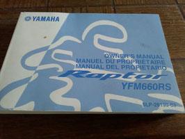 Yamaha YFM 660 RS/FR   - originale Bedienungsanleitung