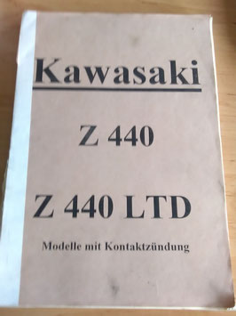 Kawasaki Z 440 / Z 440 LTD - Werkstatthandbuch