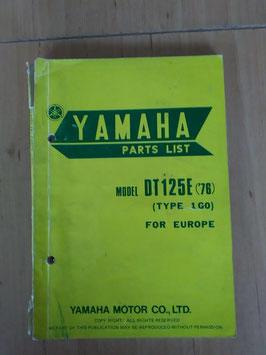 Yamaha DT125E ('76) Type: 1G0 - Parts-List