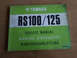 Yamaha RS 100/125 - Wartungsanleitung + Ergänzung im Paket