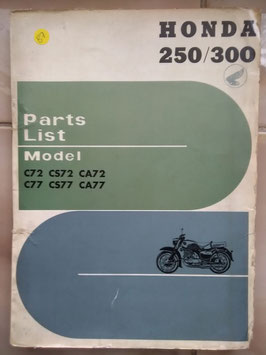 Honda C72/ CS72/ CA72 – C77/ CS 77/ CA 77  Part List*