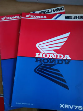 Honda XRV 750 - Werkstatt-Handbuch-Zusätze im Paket