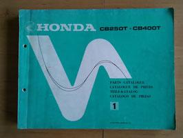 Honda CB 250 T/400 T  - Parts- List - Ersatzteile-Katalog