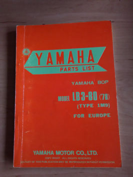 Yamaha LB3 - 80 (Bj 78)  Type 1M9 - BOP - Parts-List
