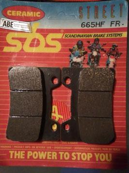 SBS– Bremsbeläge  665 HF FR